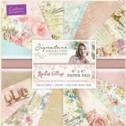 Crafter's Companion Rustic Cottage Collection 15cm x 15cm Paper Pad 48 180gsm Sheets