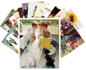 Postcard Pack 24pcs Norman Rockwell Vintage Illustration Sport and Everyday Life