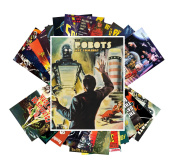 Postcard Pack 24pcs Robots Are Coming Vintage Movie Poster SciFi Space Battle