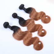 Furice ombre brown Human Hair Ombre Colour 30 Remy Hair Extensions Soft