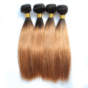 KISS HAIR Ombre Silky Straight Hair Weave 200g Two Tone Coloured Brazilian Human Hair Extensions for Short Bob Style