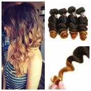 Ali Funmi Brazilian Ombre Loose Wave Human Hair 18 20 60cm 3 Bundles T1B/4/27 Colour Unprocessed Remy Virgin Human Hair Weave Extensions