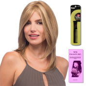 Nicole (Human Hair) by Estetica, Wig Galaxy Hair Loss Booklet & Magic Wig Styling Comb/Metal Pick Combo (Bundle - 3 Items), Colour Chosen