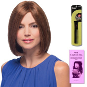 Emmeline (Human Hair) by Estetica, Wig Galaxy Hair Loss Booklet & Magic Wig Styling Comb/Metal Pick Combo (Bundle - 3 Items), Colour Chosen