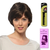 Sabrina (Human Hair) by Estetica, Wig Galaxy Hair Loss Booklet & Magic Wig Styling Comb/Metal Pick Combo (Bundle - 3 Items), Colour Chosen