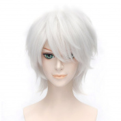 Max beauty Cosplay Wig Short Rock Spiky Straight Blue Heat Resistant Synthetic Hair Anime Show Party Costume Wig