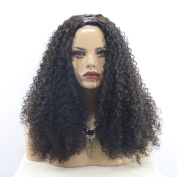MeiRun U Part Human Hair Wig Kinky Curly For Women Upart Wig 180% Density 1x 4 Part Natural Black Colour