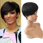 LUFFYWIG Human Hair Wigs Pixie Cut 10A Celebrity Wig Machine Made Short Wig Brazilian Hair Natural Colour Cutting Styles