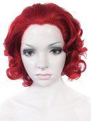 Lace Wig Synthetic Lace Front Wig Short Curly Fire Red 25cm Wig