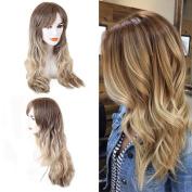 BLONDE UNICORN Long Fashion Curly Women Wigs Fashion Hairstyle Human Hair Paula Young Wigs for Women