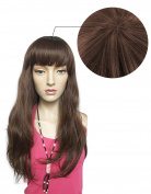 Namecute Natural Curly Wig Brown Synthetic Hair Replacement Wigs for Women + Free Wig Cap