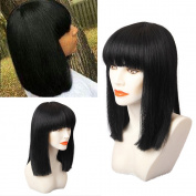BLONDE UNICORN Bob Straight Paula Young Wigs for Middle Age Women