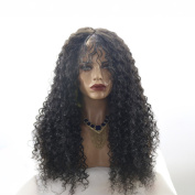 MeiRun 180% Density Silk Top Human Hair Wig Kinky Curly Full Lace Wigs Silk Base Wigs For Women Baby Hair Around Natural Black Colour
