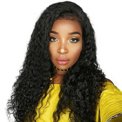 Ten Chopstics Wig 150% Density Full Curly Human Hair Wigs Full Lace Wigs Glueless Lace Front Wigs for Black Women Brazilian Wig for Black Women Natural Baby Hair Bleached Knots