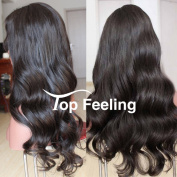 TopFeeling Brazilian Virgin Hair Glueless Lace Front Human Hair Wigs For Black Women Body Wave Lace Front Wigs 130%Density Natural Colour