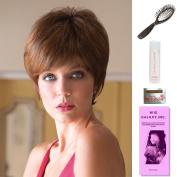 Madison by Noriko, Wig Galaxy Hair Loss Booklet, 60ml Travel Size Wig Shampoo, Wig Cap, & Loop Brush (Bundle - 5 Items), Colour Chosen