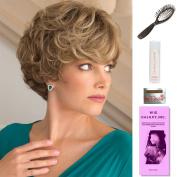 Lulu by Noriko, Wig Galaxy Hair Loss Booklet, 60ml Travel Size Wig Shampoo, Wig Cap, & Loop Brush (Bundle - 5 Items), Colour Chosen