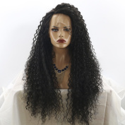 MeiRun 180% Density Kinky Curly Lace Front Wigs Curly For Women 8A Grade Glueless Curly Human Hair Natural Black Colour