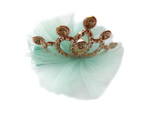 Askana Girls Glitter Crown Hair Clip Blue