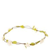 Cream Rosette Flower Crown Garland