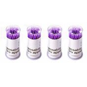 Dental Purple Disposable Micro Applicator Brush Makeup Disposable Glue Brushes Bendable 400Pcs