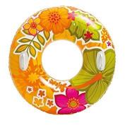 Intex Colourful Inflatable Floral Burst Transparent Tube Raft