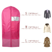 Breathable Garment Bags, Clear Window Reinforced Opening and Zipper Premium Suit Bag Works for Dresses Linens Storage or Travel