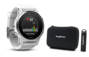 Garmin fenix 5S (White with Carrera White Band) Bundle with PlayBetter Portable Charger & Protective Hard Case | Multi-Sport GPS Training Watch, On-Wrist Heart Rate, Designed for Female Athletes
