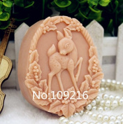 Creativemoldstore 1pcs Sika Deer (zx182) Food Grade Silicone Handmade Soap Mould Crafts DIY Mould