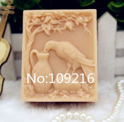 Creativemoldstore 1pcs Drinking Crow(zx193) Food Grade Silicone Handmade Soap Mould Crafts DIY Mould