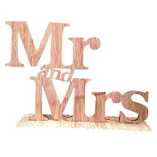 Mr and Mrs Sign Wooden Letters Wedding Decoration by ULTNICE