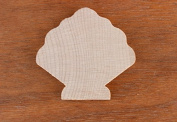 SEA SHELL Wood 1/8 x 1/2 PKG 50 laser cut wooden SEA SHELL by WOODNSHOP