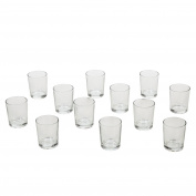 Hosley's Set of 72 Crystal Clear Votive / Tea Light Glass Candle Holders. Bulk Buy. Ideal for Parties, Wedding, Special Events, Aromatherapy and Everyday Use. Tealights