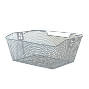 Rear Bicycle Basket PVC 39 x 30 x 17 CM, Silver, meshed, bevelled 2128212200