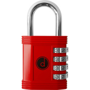 4 Digit Combination Padlock - Lock for Gym Employee School Locker, Outdoor, Fence, Hasp and Storage
