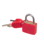 MagiDeal Small Padlock with Two Keys for Luggage Suitcase Bag Bright Red