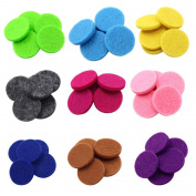 45pcs Essential Oil Diffuser Locket Necklace 22mm Refill Replacement Pads for Aromatherapy 9 Different Colours