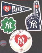 New York Yankees 4 Piece Team Magnet Set