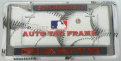 San Francisco Giants MLB Rico Laser Cut Chrome Licence Plate Frame! Officially Licenced Top of the Line Metal Plate Frame ! Showcase your Team Spirit when you're on the Road and set yourself apart in Traffic! Easy to Mount and Highly Durable! A Great T ..