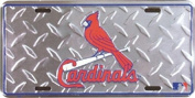 St Louis Cardinals MLB Embossed Diamond Metal Novelty Licence Plate Tag Sign 2641