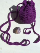 Amulet bag & Purple Jasper ~ Ravenz Roost hand made item