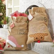 Reindeer or Santa Gift Sack