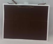 Large Chocolate Brown & White Trim Gift Bag