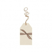 Cream Small Kraft Luggage Tags - Set of 6