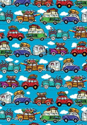 Long Weekend Road Trip Gift Wrap Flat Sheet 60cm X 1.8m - Gift Wrapping Paper