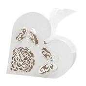 Voberry® 50Pcs Sweet Heart Wedding Favour Box Gift Boxes Candy Paper Party Box Case