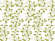 Printed Tissue Paper for Gift Wrapping with Design (Nature Inspired Green & Ivory Leafy Vine) - Decorative Tissue Paper, 24 Large Sheets