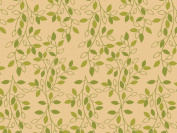 Printed Tissue Paper for Gift Wrapping with Design (Nature Inspired Green & Tan Leafy Vine) - Decorative Tissue Paper, 24 Large Sheets