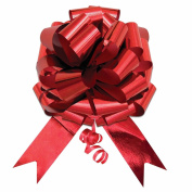 36cm XL Large Giant Pull Bow Pew Bows Wedding Decorations Christmas Gift Wrap Metallic Red