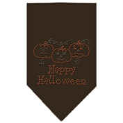 Happy Halloween Rhinestone Bandana Cocoa Small